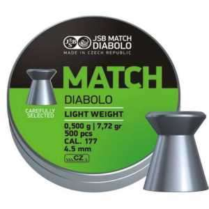 Пули пневматические JSB Match Diabolo light 4.51мм