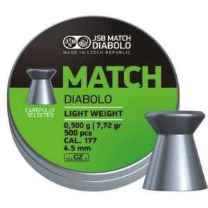 Пули пневматические JSB Match Diabolo light 4.52мм