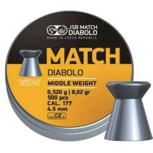 Пули пневматические JSB Match Diabolo middle 4.51мм