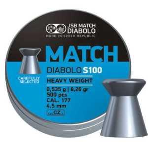 Пули пневматические JSB Match Diabolo S100 heavy 4.50мм