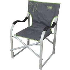 Кресло Norfin MOLDE max120кг / NF Alu ц:черный/зелёный