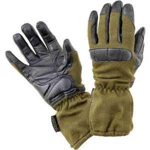 Перчатки Defcon 5 GUANTO LONG NOMEX WITH ANTIBACTERIALGOATSKIN PALM LEATHER. Размер - L. Цвет - оливковый