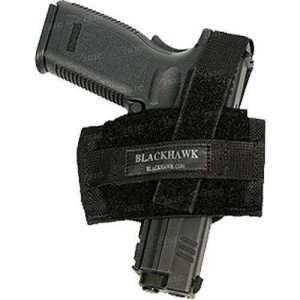 Кобура BLACKHAWK! Ambidextrous Flat Belt. Цвет -черная