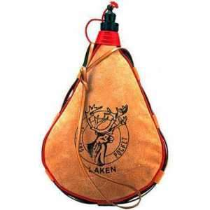 Фляга Laken Leather canteen 1 L. straight form