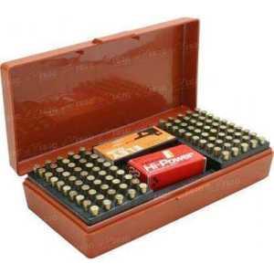 Коробка MTM SB-200 на 250 патронов кал. 22 LR; на 200 шт. кал. 22 WMR и на 150 шт. кал. 17 HMR. Цвет – красный.