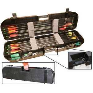 Кейс пластмассовый MTM Arrow Plus Case для 36 стрел и прочих комплектующих. Размеры – 91,5х26х13 см. Цвет – черный.
