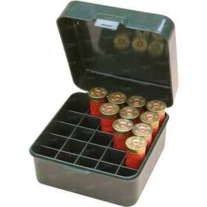 Коробка MTM Dual Gauge Shotshell Case универсальная на 25 патронов 12/16/20 кал. Цвет – зеленый