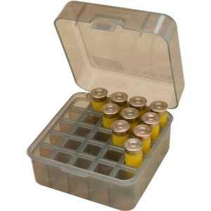 """Коробка MTM Dual Gauge Shotshell Case 3.5"""" на 25 патронов кал. 12/76. Цвет – дымчатый"""