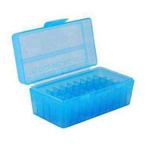 Коробка для патронов MTM кал. 7,62x25; 5,7x28; 357 Mag. Количество - 50 шт. Цвет - голубой