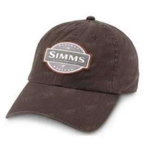 Кепка Simms 6-Panel Washed Twill Cap Dk.Brown