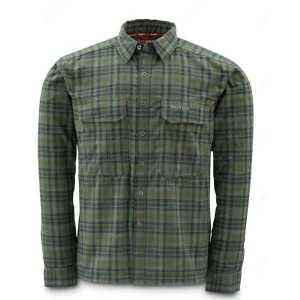 Рубашка Simms Coldweather Shirt Black Olive Plaid XXL