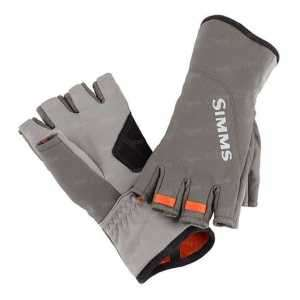 Перчатки Simms ExStream Half Finger Glove Dk Gunmetal L