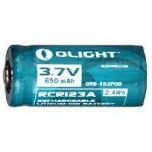 Аккуммуляторная батарея Olight RCR123А Li-Ion 3.7v 650 mAh