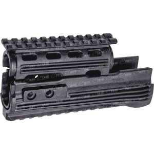 Цевье LHB LHV47 для AK 47/74 с планками Weaver/Picatinny. Материал - пластик. Цвет - черный