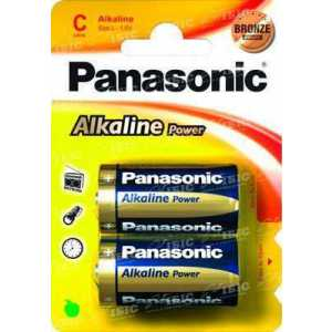 Батарея Panasonic ALKALINE POWER C BLI 2