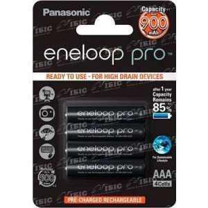 Аккумулятор Panasonic Eneloop Pro AAA 900 mAh NI-MH 4BP