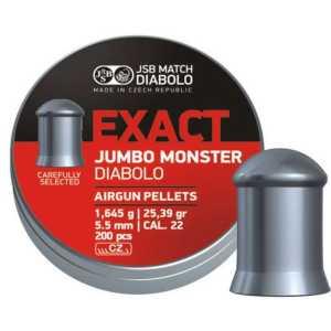 Пули пневматические JSB Diabolo Exact Jumbo Monster 5.52мм