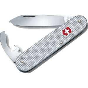 Нож VICTORINOX 0.2300.26 Alox Bantam ц:серебро