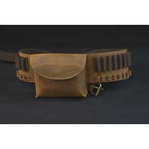 Патронташ поясной с карманом из кожи для карабина Artipel