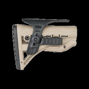 Щека регулируемая FAB с планкой Пикатинни для приклада GL-SHOCK с амортизатором, черная