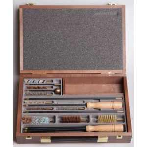 Набор для чистки универсальный кал.12, 22, 9 в деревянной коробке