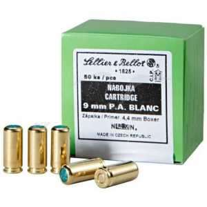 Патрон холостой пистолетный Sellier & Bellot кал. 9 мм